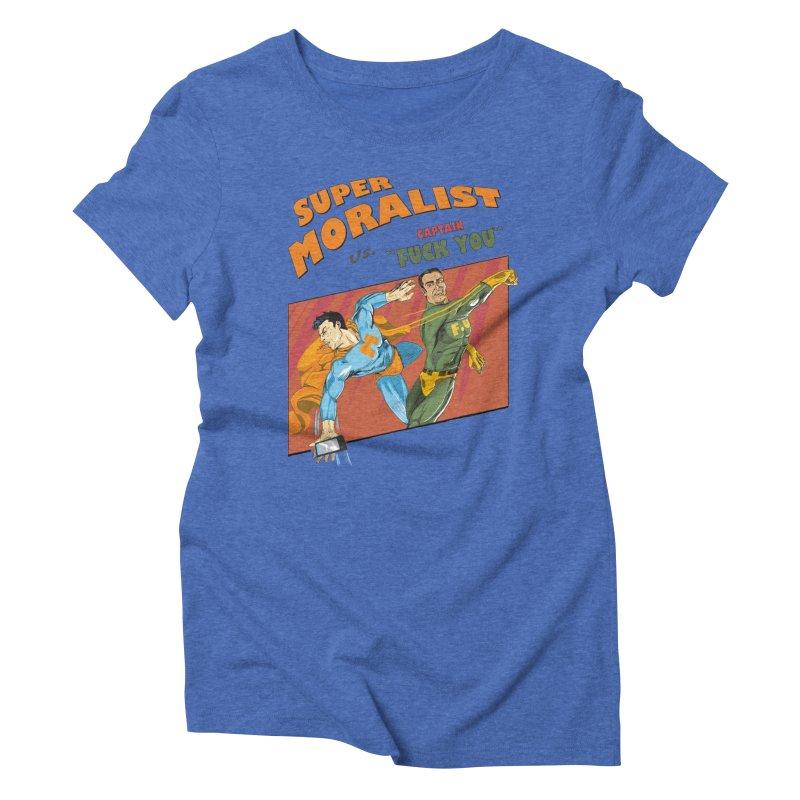 F.U. Women's Triblend T-shirt by Saulo Alonso's Artist Shop