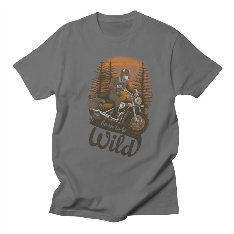 Born to be wild Men's T-shirt by Saulo Alonso's Artist Shop