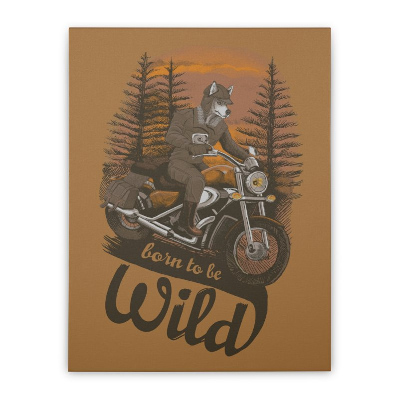 Born to be wild Home Stretched Canvas by Saulo Alonso's Artist Shop