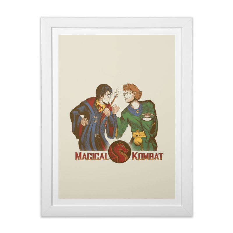 Magical Kombat Home Framed Fine Art Print by Saulo Alonso's Artist Shop