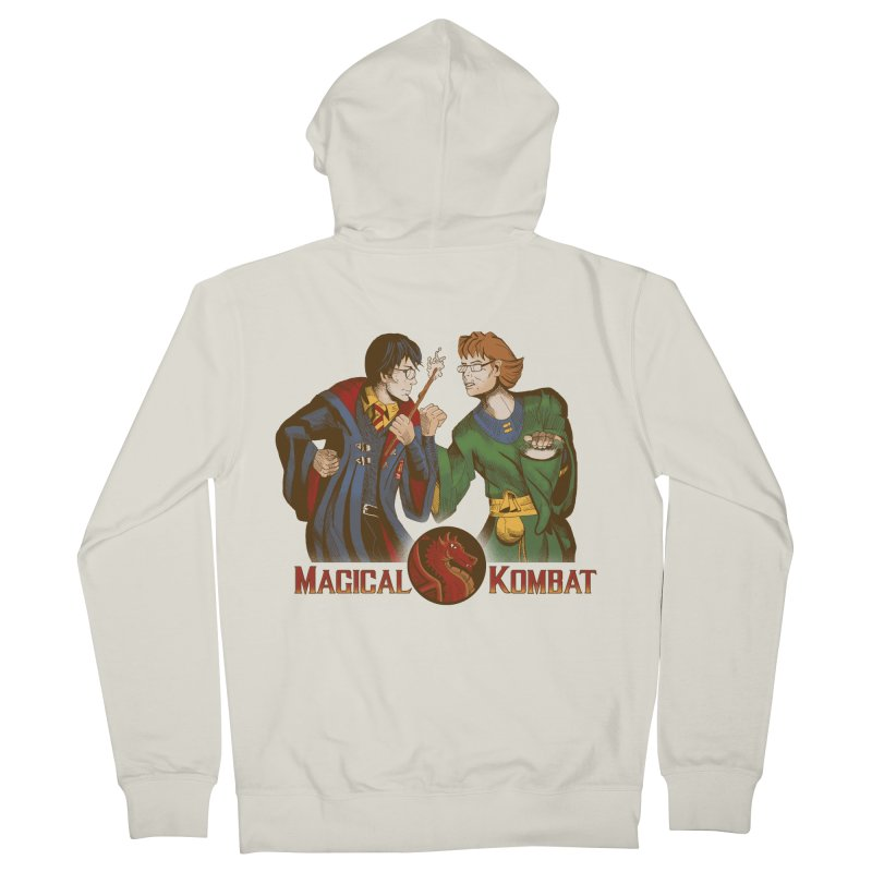Magical Kombat Men's Zip-Up Hoody by Saulo Alonso's Artist Shop