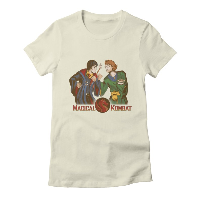Magical Kombat Women's Fitted T-Shirt by Saulo Alonso's Artist Shop
