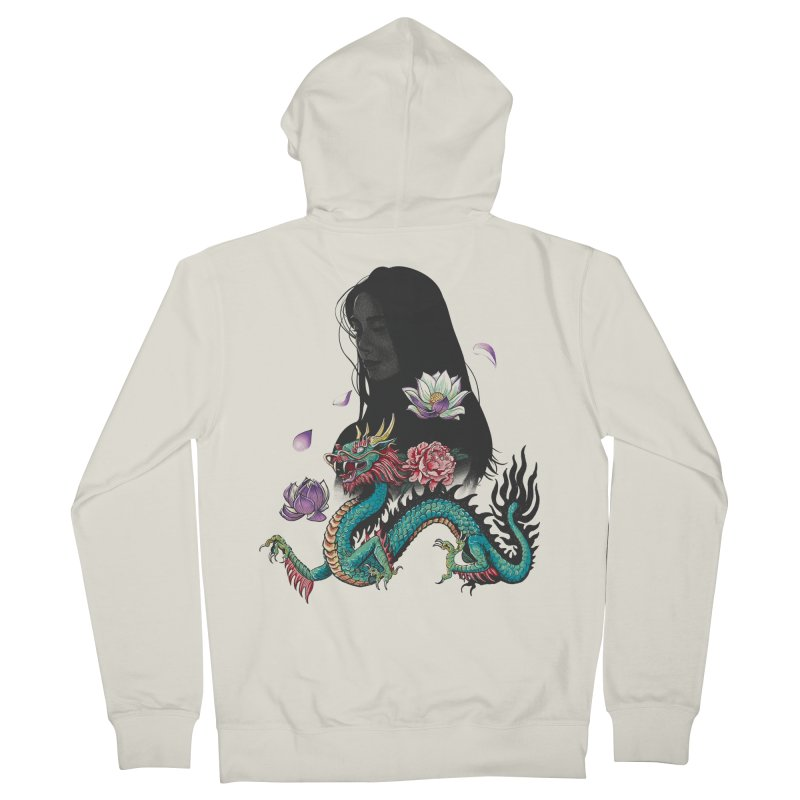 Oriental Women's Zip-Up Hoody by Saulo Alonso's Artist Shop