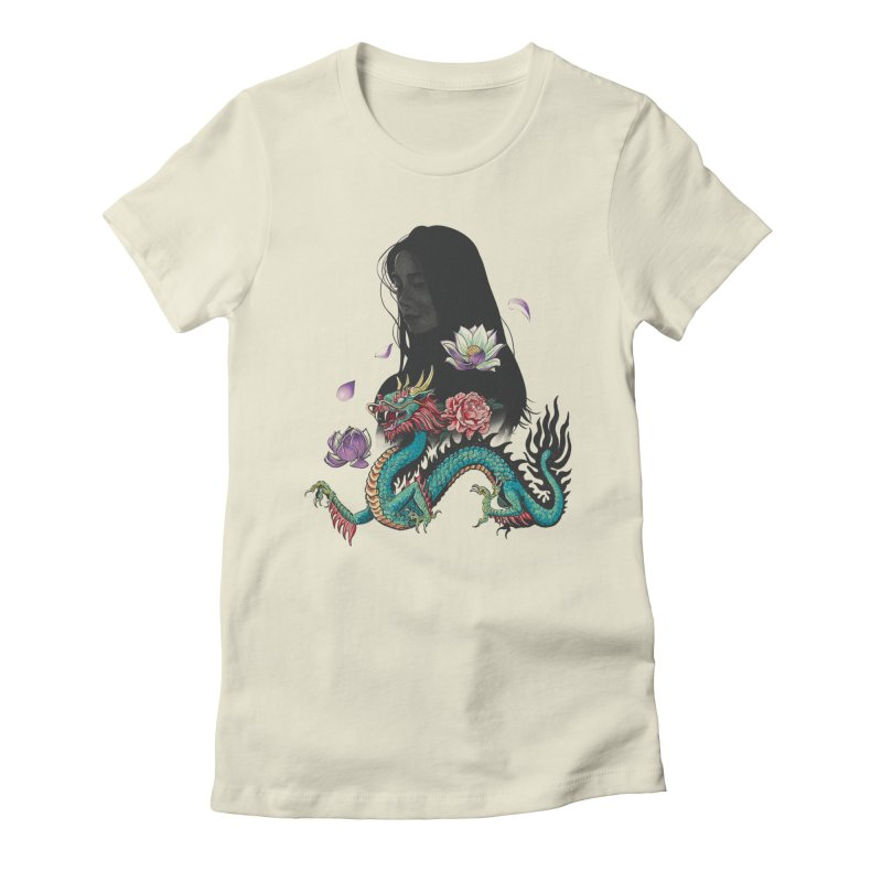 Oriental Women's Fitted T-Shirt by Saulo Alonso's Artist Shop