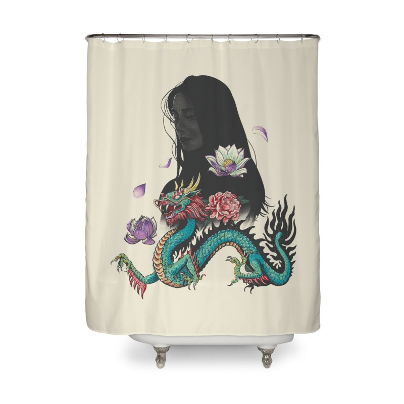 Oriental Home Shower Curtain by Saulo Alonso's Artist Shop
