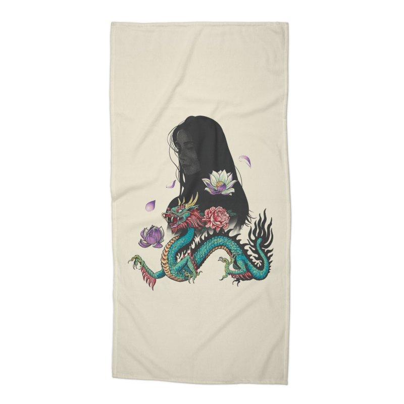 Oriental Accessories Beach Towel by Saulo Alonso's Artist Shop