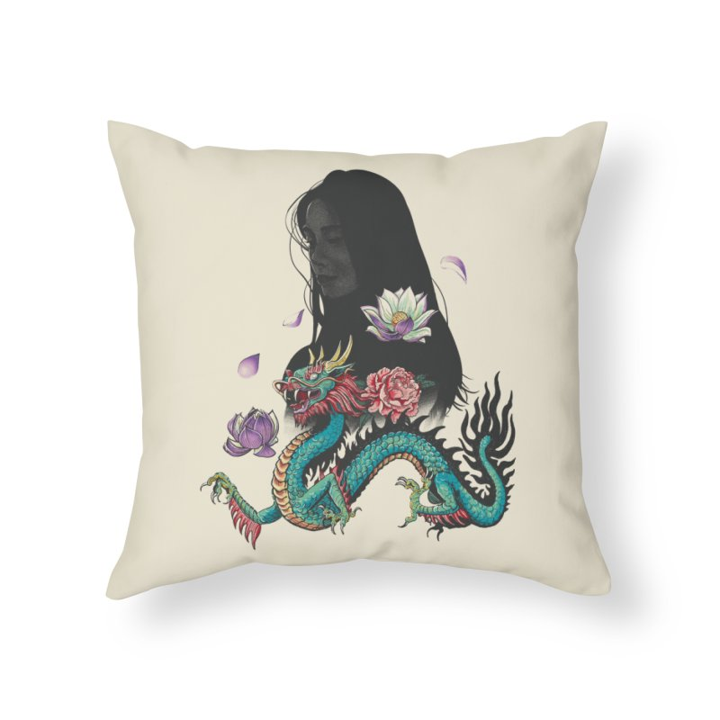 Oriental Home Throw Pillow by Saulo Alonso's Artist Shop