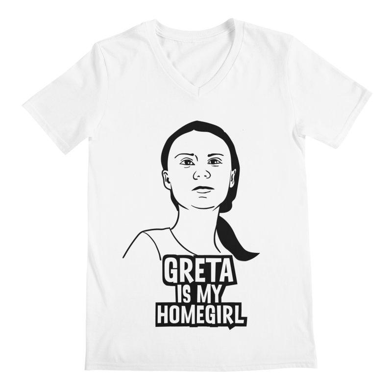 Greta Is My HomeGirl Men's Regular V-Neck by SavageMonsters's Artist Shop