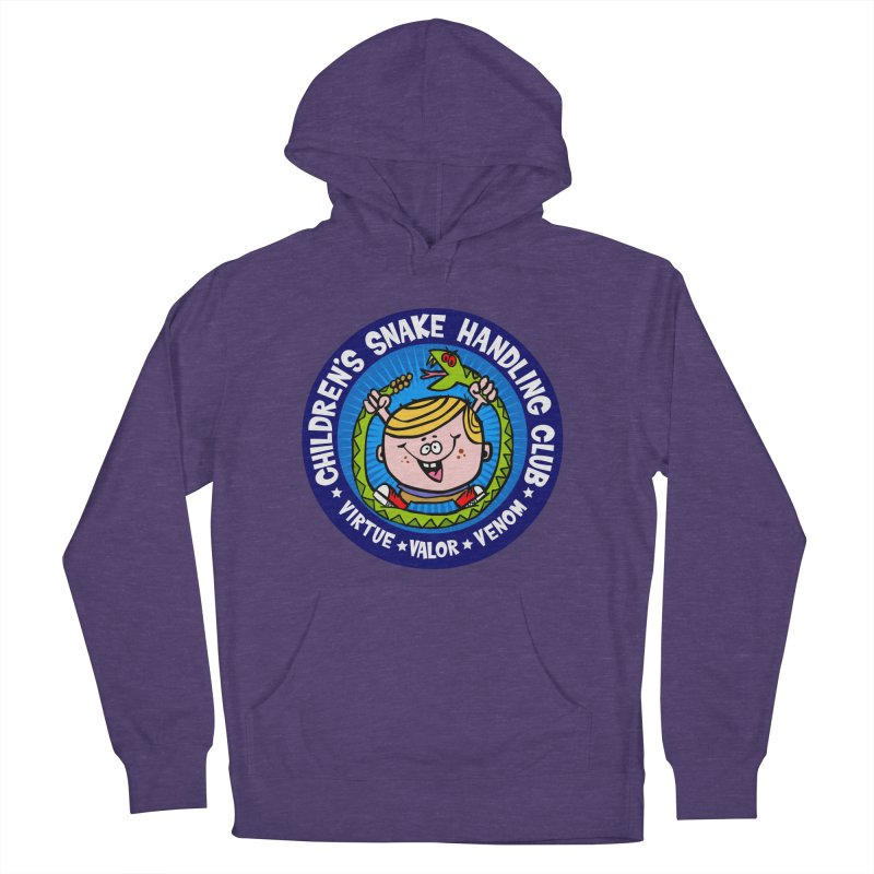 Children's Snake Handling Club Women's French Terry Pullover Hoody by SavageMonsters's Artist Shop