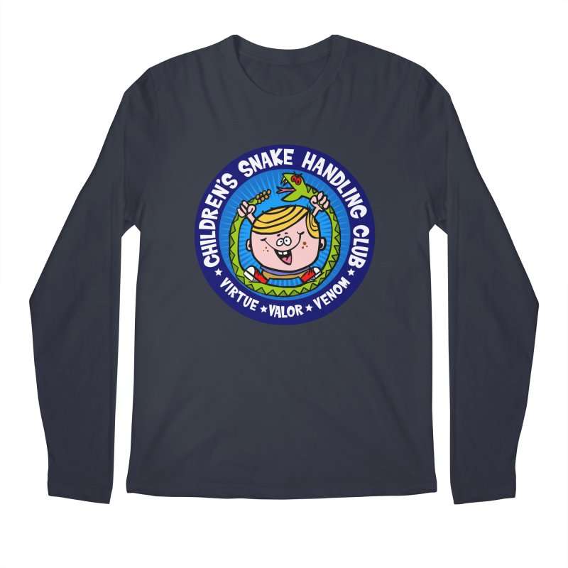 Children's Snake Handling Club Men's Longsleeve T-Shirt by SavageMonsters's Artist Shop