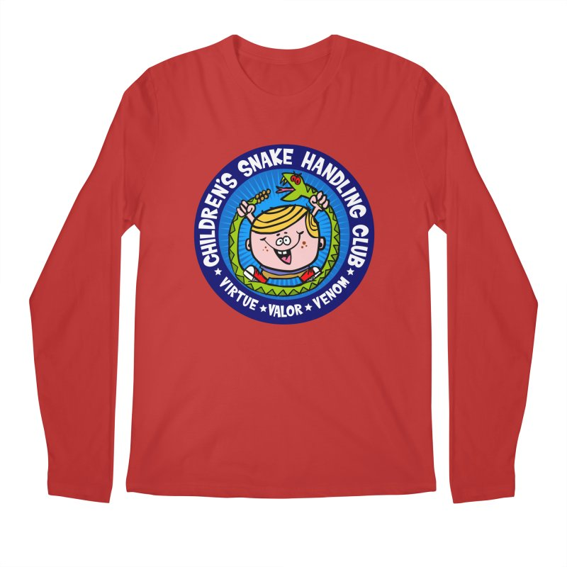 Children's Snake Handling Club Men's Longsleeve T-Shirt by SavageMonsters's Artist Shop