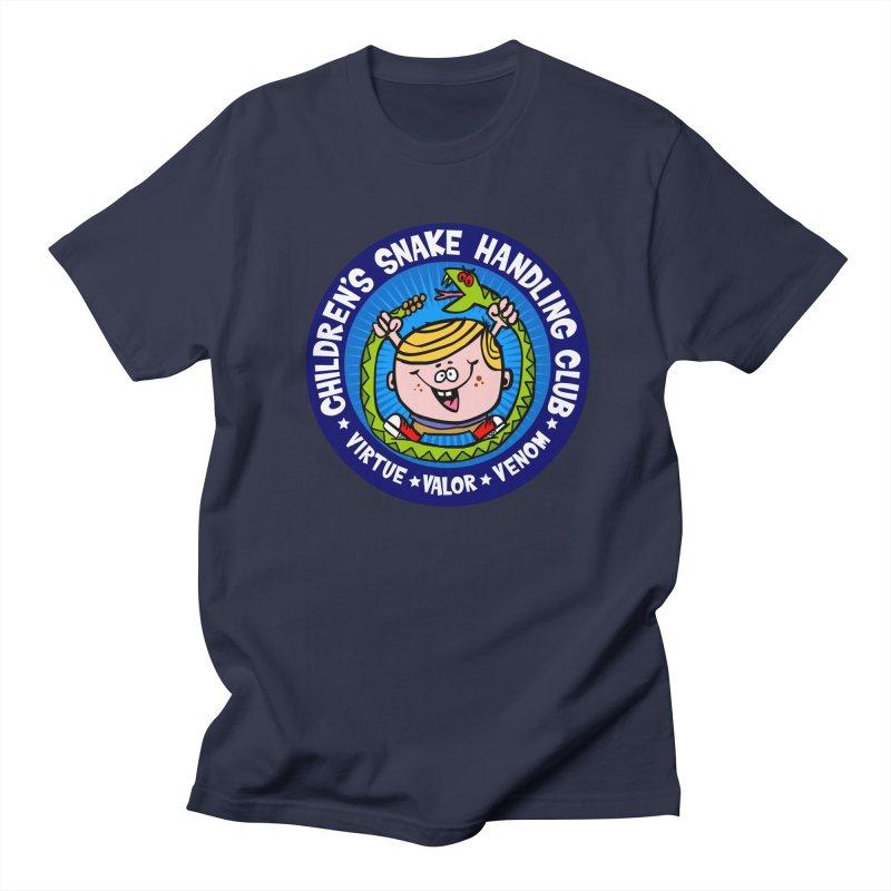 Children's Snake Handling Club Men's T-shirt by SavageMonsters's Artist Shop
