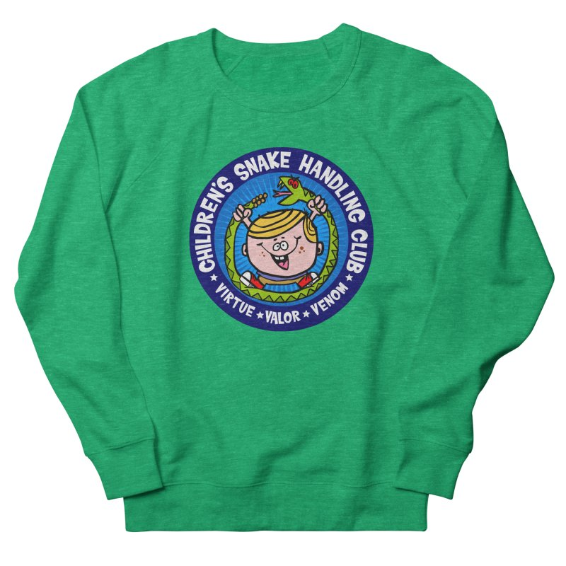Children's Snake Handling Club Women's Sweatshirt by SavageMonsters's Artist Shop