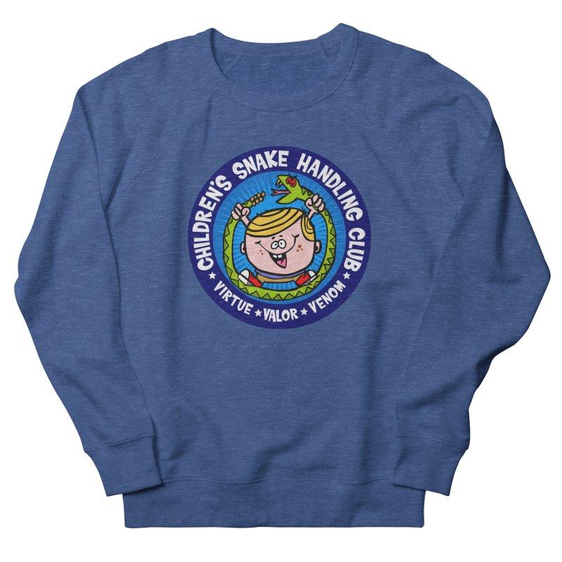 Children's Snake Handling Club Men's French Terry Sweatshirt by SavageMonsters's Artist Shop