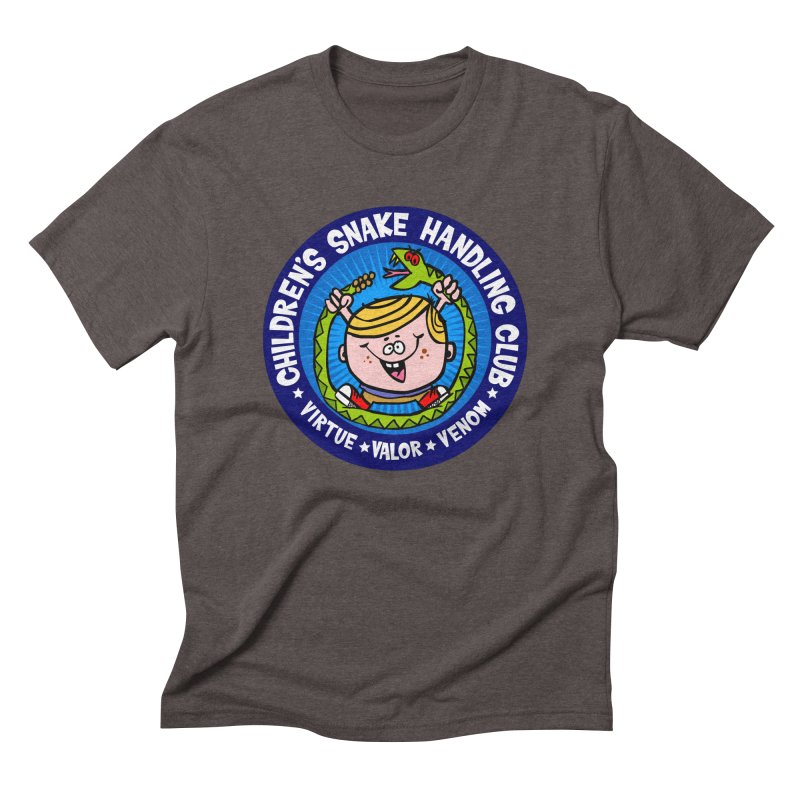 Children's Snake Handling Club Men's Triblend T-Shirt by SavageMonsters's Artist Shop