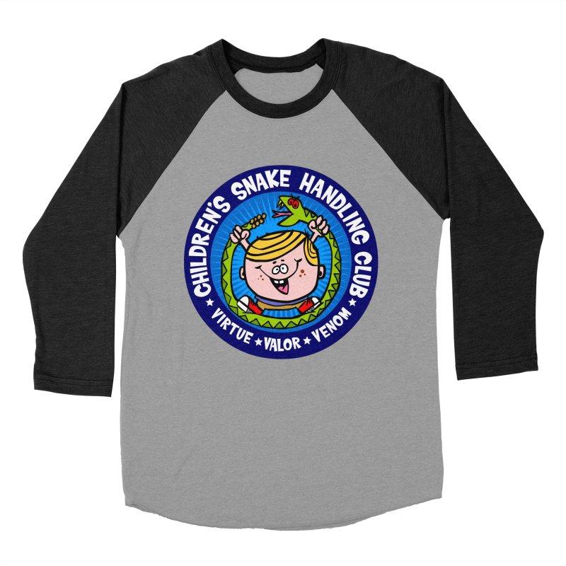 Children's Snake Handling Club Women's Baseball Triblend Longsleeve T-Shirt by SavageMonsters's Artist Shop