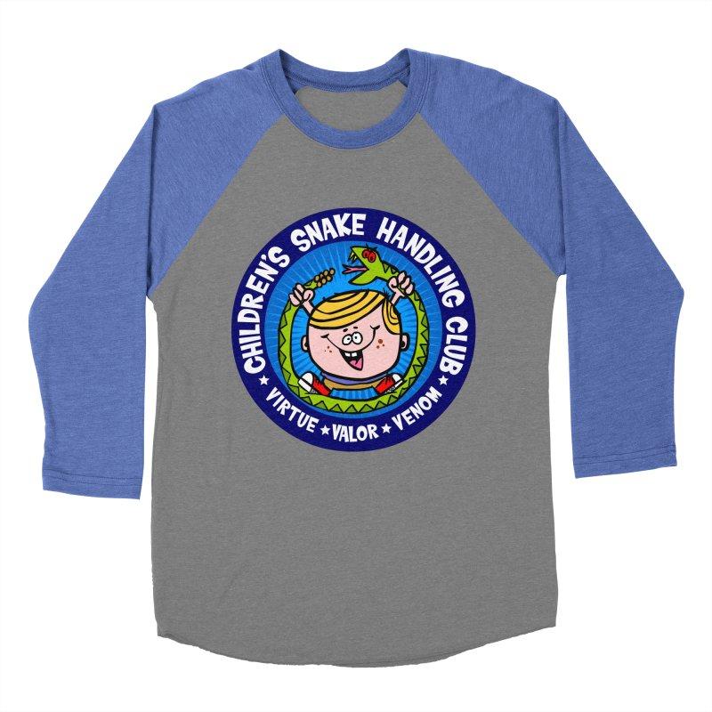 Children's Snake Handling Club Men's Baseball Triblend Longsleeve T-Shirt by SavageMonsters's Artist Shop