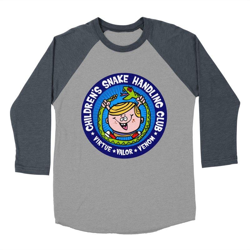 Children's Snake Handling Club Men's Baseball Triblend T-Shirt by SavageMonsters's Artist Shop