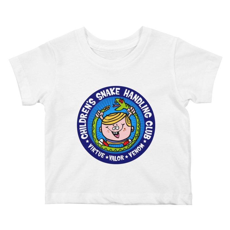 Children's Snake Handling Club Kids Baby T-Shirt by SavageMonsters's Artist Shop