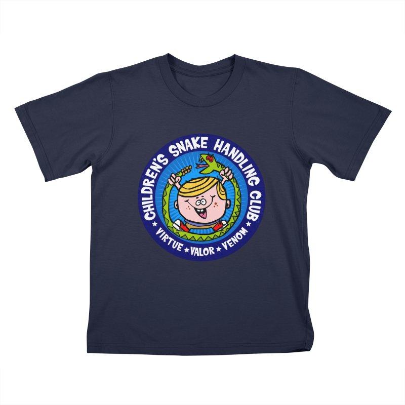 Children's Snake Handling Club Kids Toddler T-Shirt by SavageMonsters's Artist Shop
