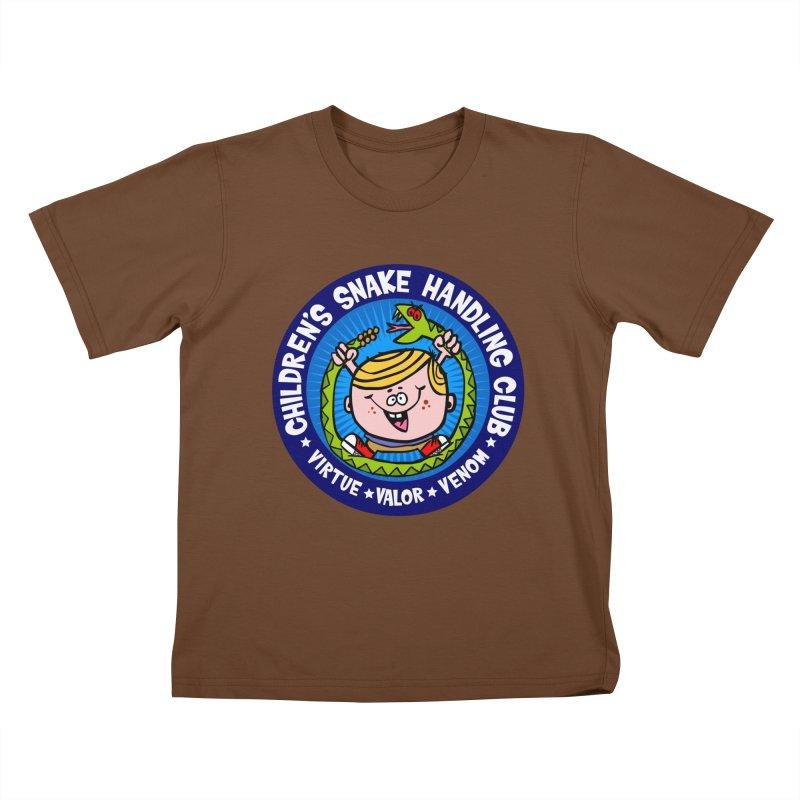 Children's Snake Handling Club Kids T-Shirt by SavageMonsters's Artist Shop