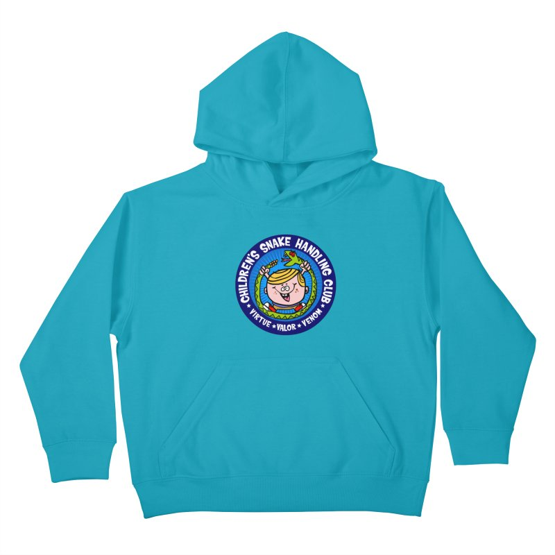 Children's Snake Handling Club Kids Pullover Hoody by SavageMonsters's Artist Shop