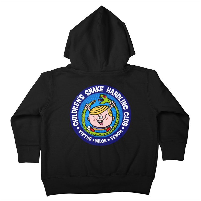 Children's Snake Handling Club Kids Toddler Zip-Up Hoody by SavageMonsters's Artist Shop