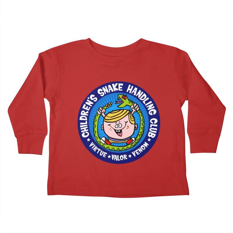 Children's Snake Handling Club Kids Toddler Longsleeve T-Shirt by SavageMonsters's Artist Shop