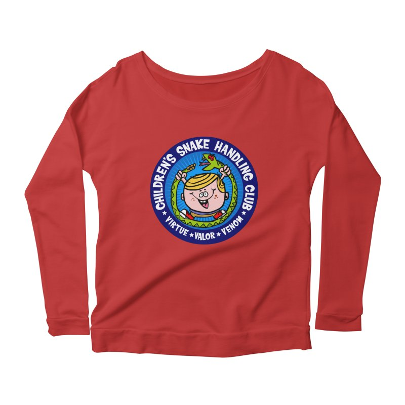 Children's Snake Handling Club Women's Longsleeve Scoopneck  by SavageMonsters's Artist Shop