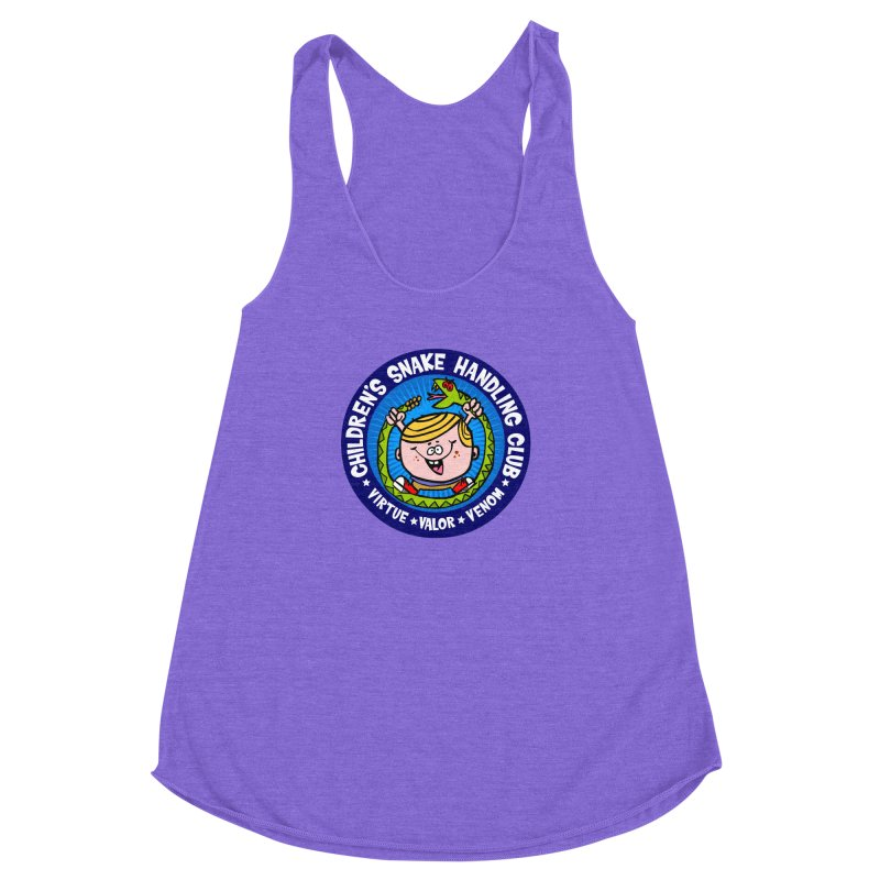 Children's Snake Handling Club Women's Racerback Triblend Tank by SavageMonsters's Artist Shop