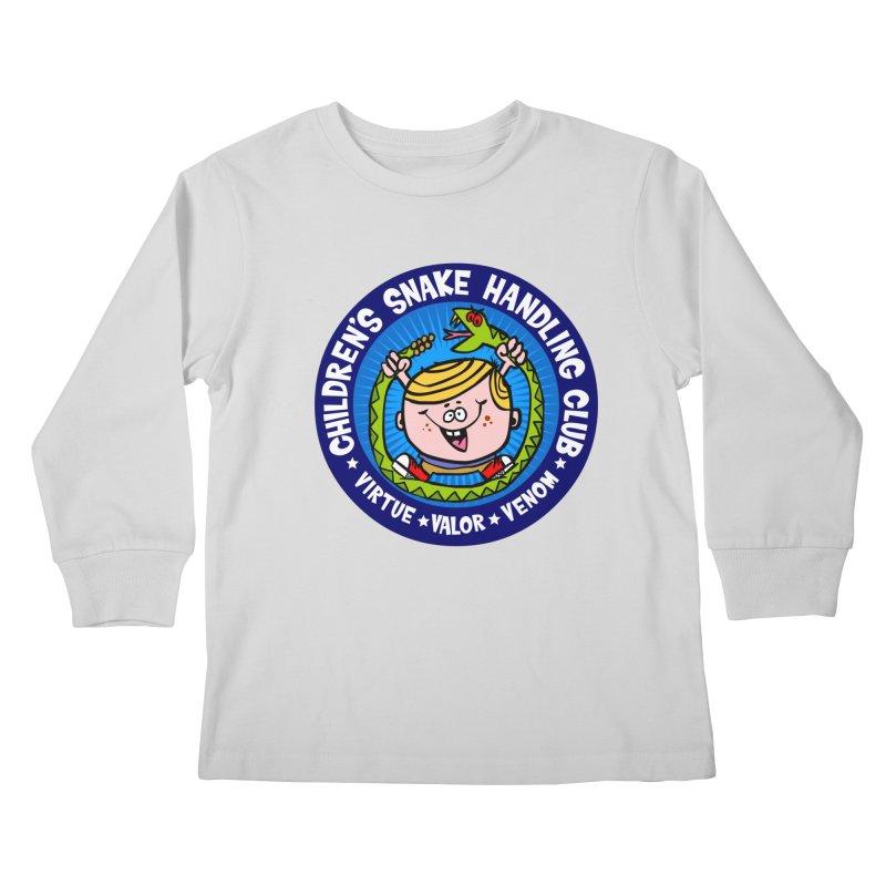 Children's Snake Handling Club Kids Longsleeve T-Shirt by SavageMonsters's Artist Shop