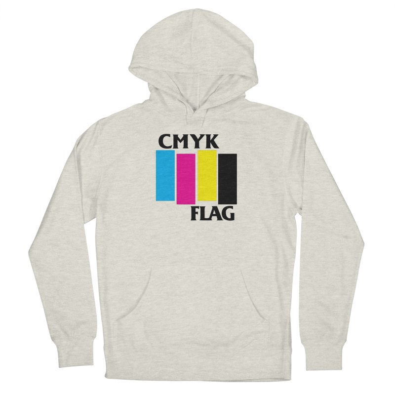CMYK FLAG Men's French Terry Pullover Hoody by SavageMonsters's Artist Shop