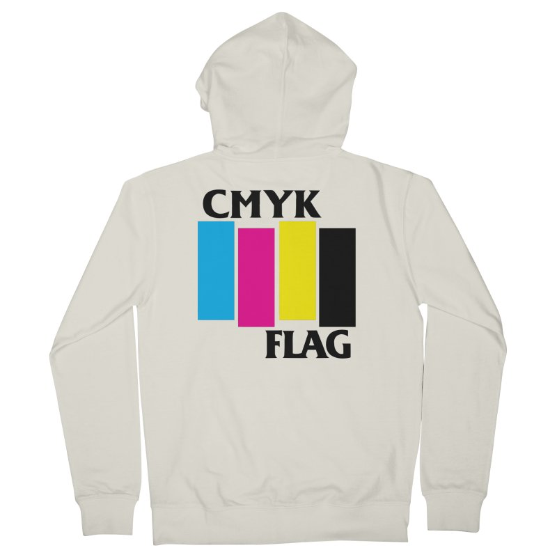 CMYK FLAG Women's French Terry Zip-Up Hoody by SavageMonsters's Artist Shop