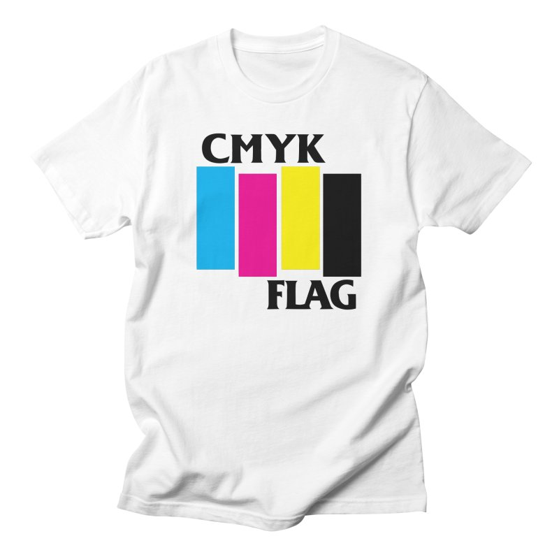 CMYK FLAG Men's T-Shirt by SavageMonsters's Artist Shop