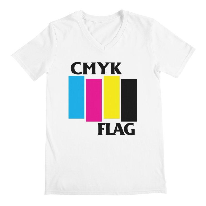 CMYK FLAG Men's V-Neck by SavageMonsters's Artist Shop