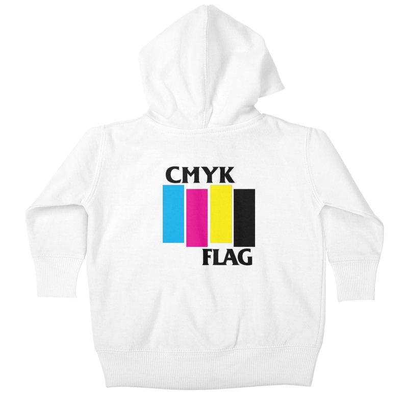 CMYK FLAG Kids Baby Zip-Up Hoody by SavageMonsters's Artist Shop