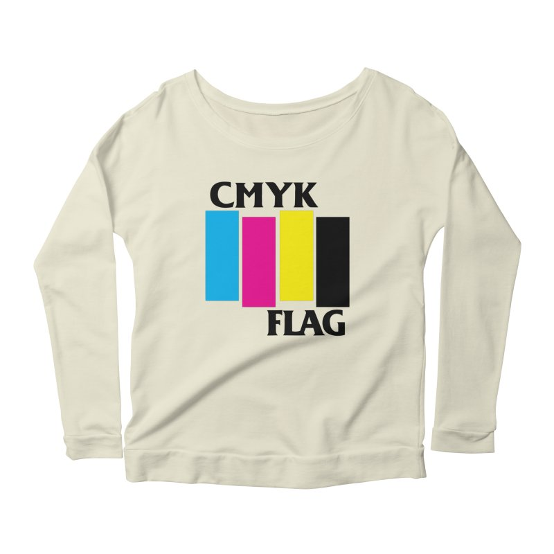 CMYK FLAG Women's Longsleeve Scoopneck  by SavageMonsters's Artist Shop