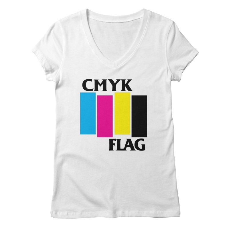 CMYK FLAG Women's V-Neck by SavageMonsters's Artist Shop
