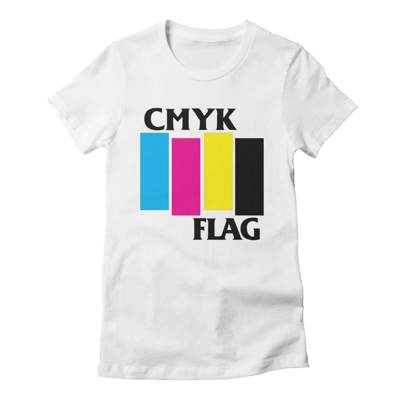 CMYK FLAG Women's Fitted T-Shirt by SavageMonsters's Artist Shop