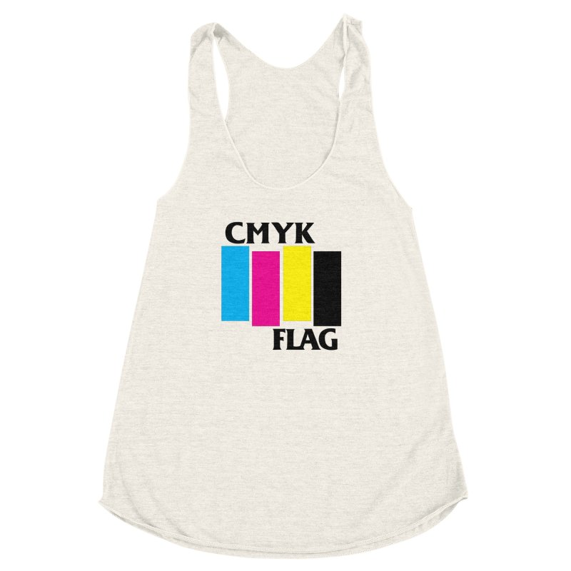 CMYK FLAG Women's Racerback Triblend Tank by SavageMonsters's Artist Shop