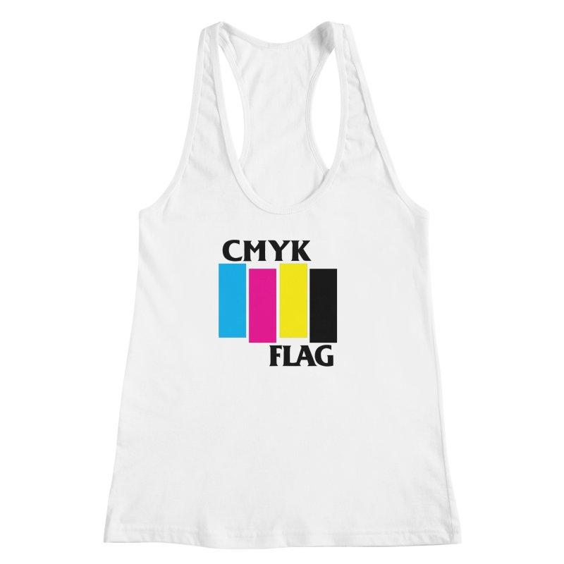 CMYK FLAG Women's Racerback Tank by SavageMonsters's Artist Shop
