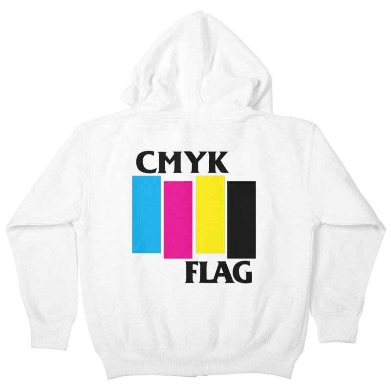 CMYK FLAG Kids Zip-Up Hoody by SavageMonsters's Artist Shop