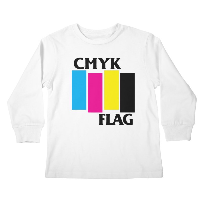 CMYK FLAG Kids Longsleeve T-Shirt by SavageMonsters's Artist Shop