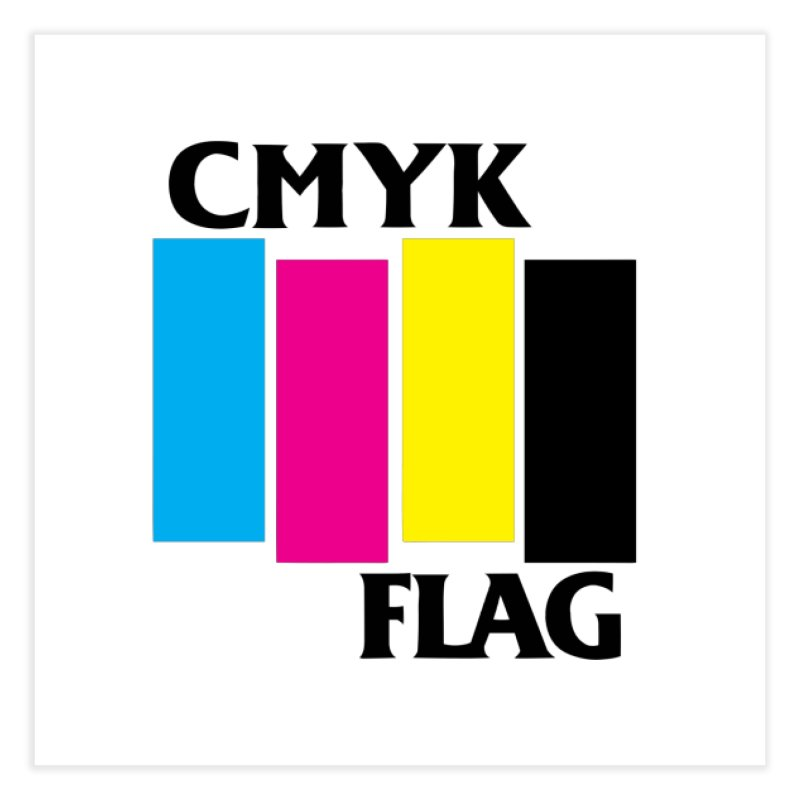 CMYK FLAG Home Fine Art Print by SavageMonsters's Artist Shop