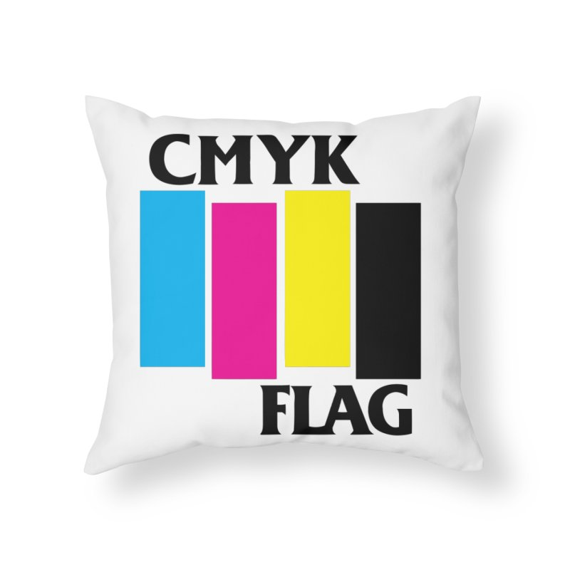 CMYK FLAG Home Throw Pillow by SavageMonsters's Artist Shop