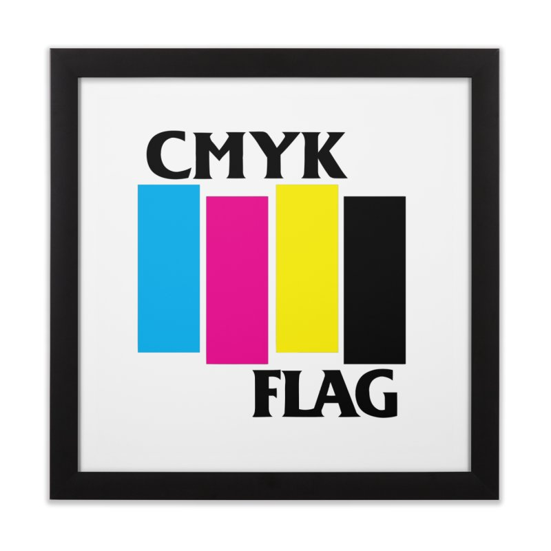 CMYK FLAG Home Framed Fine Art Print by SavageMonsters's Artist Shop
