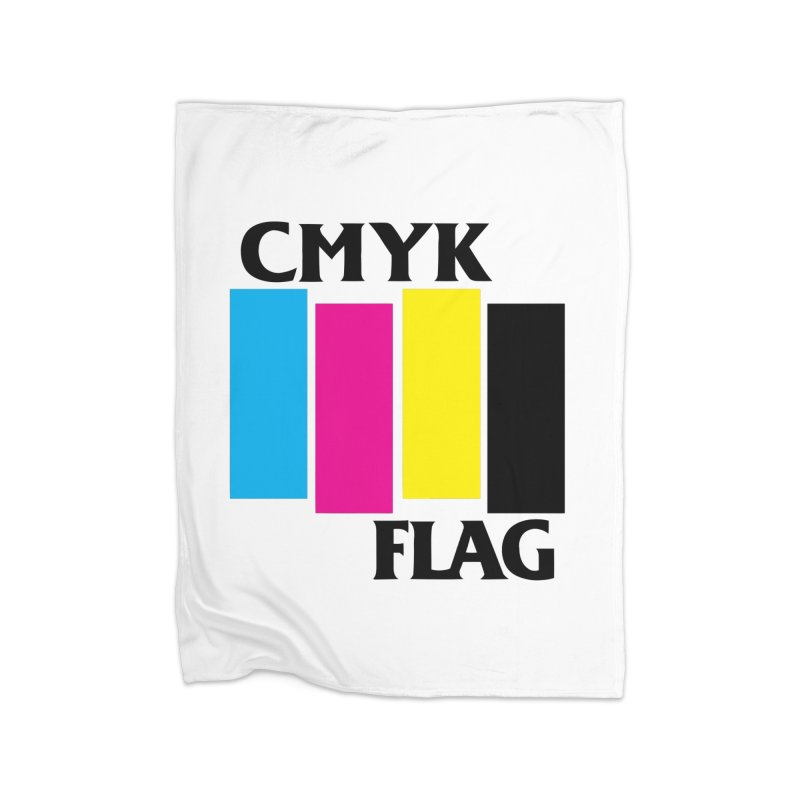 CMYK FLAG Home Fleece Blanket Blanket by SavageMonsters's Artist Shop