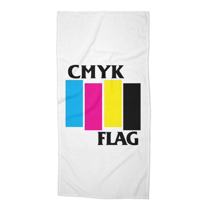 CMYK FLAG Accessories Beach Towel by SavageMonsters's Artist Shop