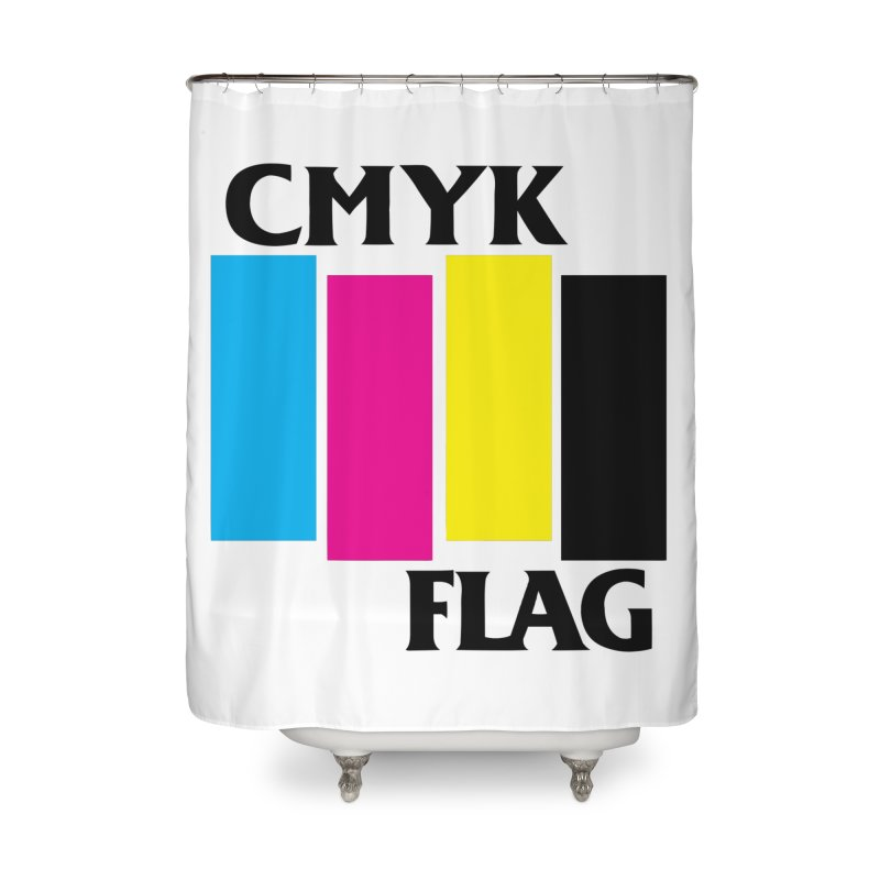 CMYK FLAG Home Shower Curtain by SavageMonsters's Artist Shop