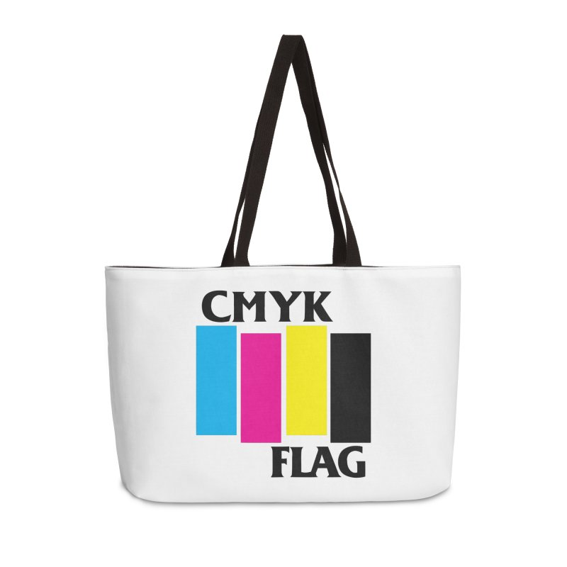 CMYK FLAG Accessories Weekender Bag Bag by SavageMonsters's Artist Shop